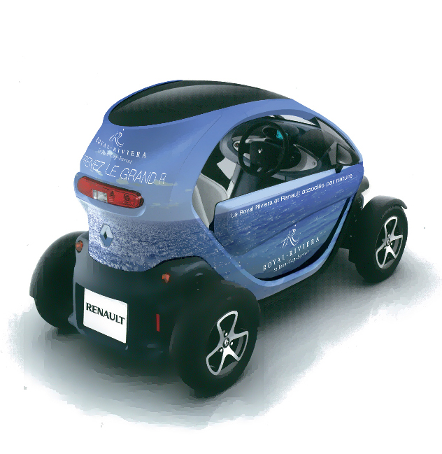 Location renault Twizy au Royal-Riviera