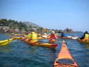 Balade en kayak de mer avec le centre de Découverte du Monde Marin