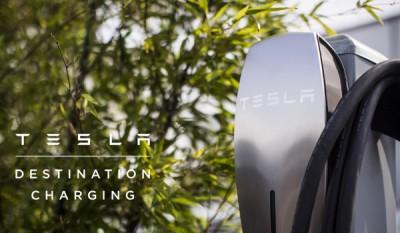 Tesla destination charging - St Jean Cap Ferrat -Côte d'Azur