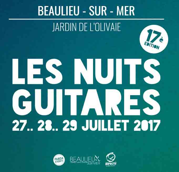 Festivals des nuits guitares 2017 - Beaulieu-sur-mer
