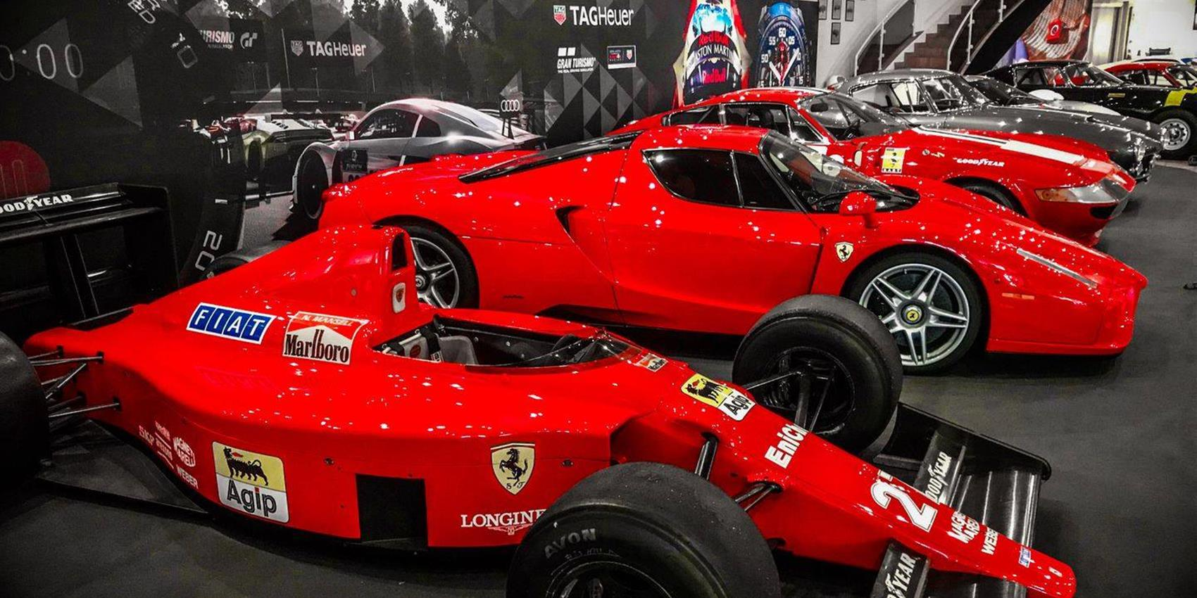 Unique exhibition of Ferrari vehicles